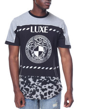 Shirts - Luxe Medusa Foil Scallop Tee