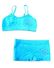 Underwear & Sleepwear - Teen Rhinestone Flower Seamless Bra Short/Set