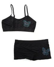 Underwear & Sleepwear - Teen Rhinestone/Butterfly Seamless Bra Short/Set