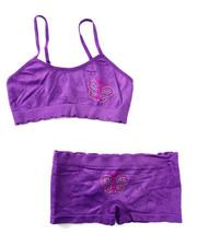 Underwear & Sleepwear - Teen Butterfly//Flower Seamless Bra Short/Set
