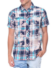 Button-downs - Bleached Plaid S/S Buttondown Shirt