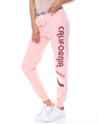 Cali Cali French Terry Jogger W/Printed Inner Waist Band