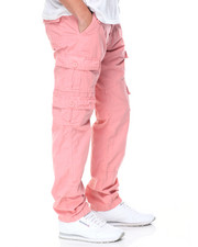 Jeans & Pants - Belted Cargo Slim Fit Pants