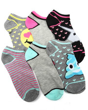 Accessories - Emoji Space Dye  6Pk Low Cut Socks