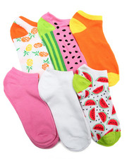 Accessories - Tropical Prints 6Pk Low Cut Socks