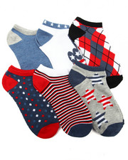 Women - Americana 6Pk Low Cut Socks