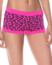 Women - Mixed Animal/Solid Seamless 3Pk Shorts