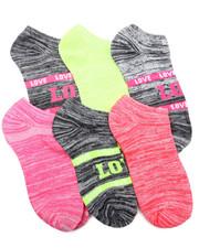 DRJ SOCK SHOP - Bright Neon Space Dye 6Pk Low Cut Socks