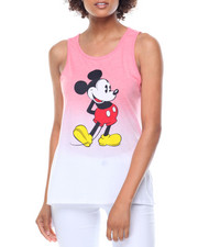 Graphix Gallery - Mickey Mouse Dip Dye Side Split Tunic Tank