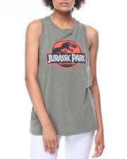 Tops - Jurassic Park Lunar Wash Muscle Tank