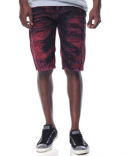 Men - Wine - Wash Denim Shorts