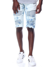 Men - Cloud - Wash Moto - Style Denim Shorts