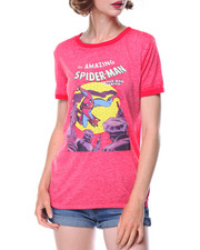 Tops - The Amazing Spiderman Burnout Wash Ringe Tee