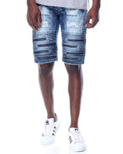 Men - Super - Zip Moto - Style Denim Shorts