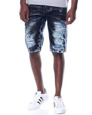 Men - Black - Wash Denim Shorts