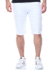 Men - Slit - Pocket Moto Denim Shorts