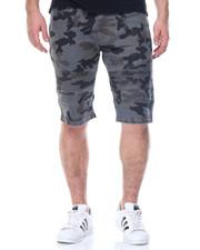 Men - Camo Moto Denim Shorts
