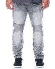 Men - Acid Wash Moto Jeans (B&T)