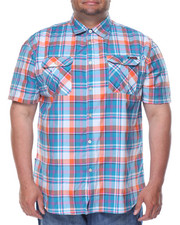 Enyce - Plaid S/S Button-Down (B&T)