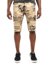 Men - Cloud - Wash Moto - Style Denim Shorts