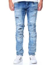 Men - Premium Stretch Multi - Zip Denim Jeans