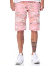 Men - Rip - Off Zipper Moto Denim Shorts
