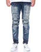 Cargo - Pocket Moto Denim Jeans