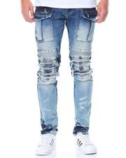 Men - Cargo - Pocket Moto Denim Jeans