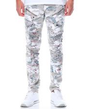 Jeans & Pants - Splatter Camo Moto - Style Twill Pants