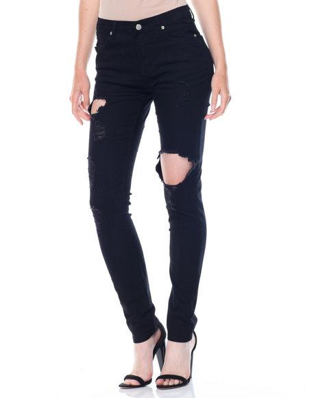 Fashion Lab - Hi Waist Ripped Stretch Pants