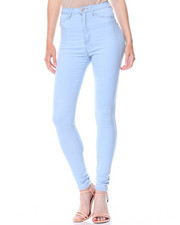 Jeans - Hi Waist Stretch Denim Jeans