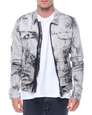 Denim Jackets - Zip Front Denim Jacket