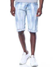 Men - Streak Wash Stretch Denim Shorts