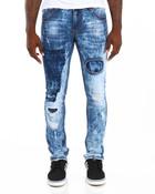 Shadow Trim 5-Pocket Stretch Denim Jeans