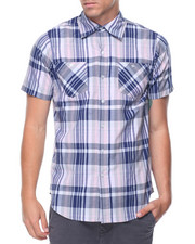 Button-downs - S/S Plaid Woven