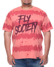 Men - Fly Society Splatter Stripe Short Sleeve Tee (B&T)