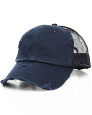 Men - Distressed Vintage Washed Cotton Mesh Back Dad Hat