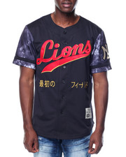Men - Lions Nylon Baseball Jersey