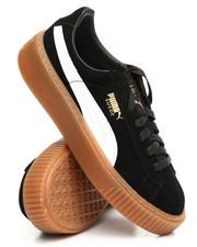 Sneakers - Suede Platform Sneakers