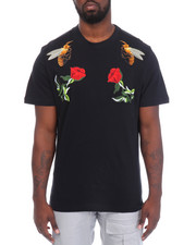 Men - Patches/Roses Short Sleeve Tee