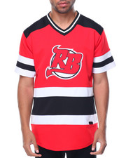 Men - NJ S/S V-Neck Logo Hockey Jersey