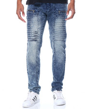 Men - Latter Pleats Denim Jeans