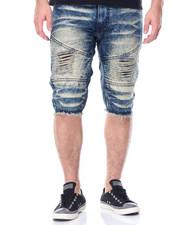 Men - Moto Denim Shorts