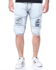 Men - Moto Denim Shorts