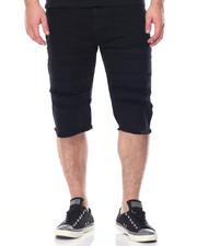 Men - Rip & Repair Color Denim Shorts