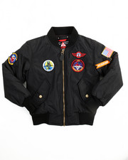 Light Jackets - Flight Jacket With Patches (8-20)