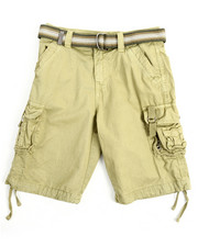 Boys - Belted Fancy Cargo Pocket Shorts (8-20)