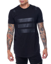 Men - Vegan Leather Trim Tee