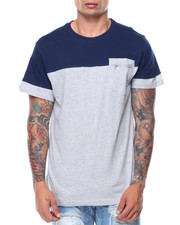 Men - S/S  2-Tone Pocket Tee