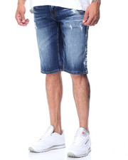 Akademiks - Paintwash Denim Shorts